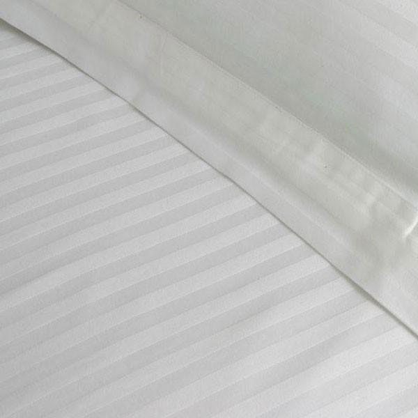 Satin Stripe Flat Sheet-0